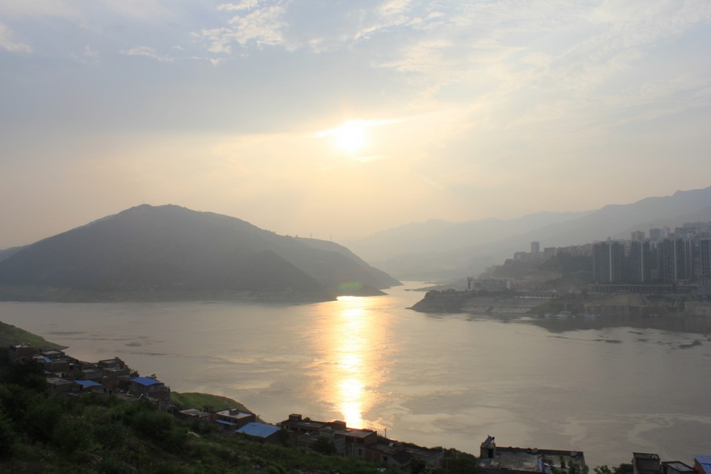Sonnenuntergang am Yangtze