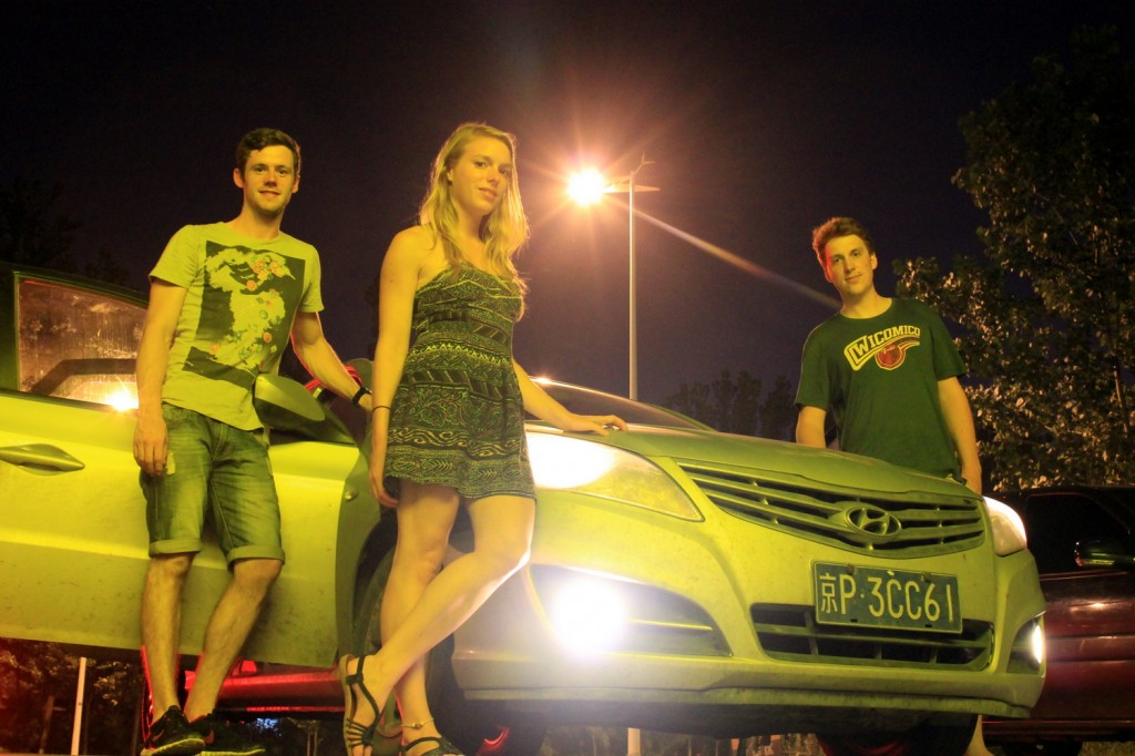 Abschiedsbild mit unserem Auto in China