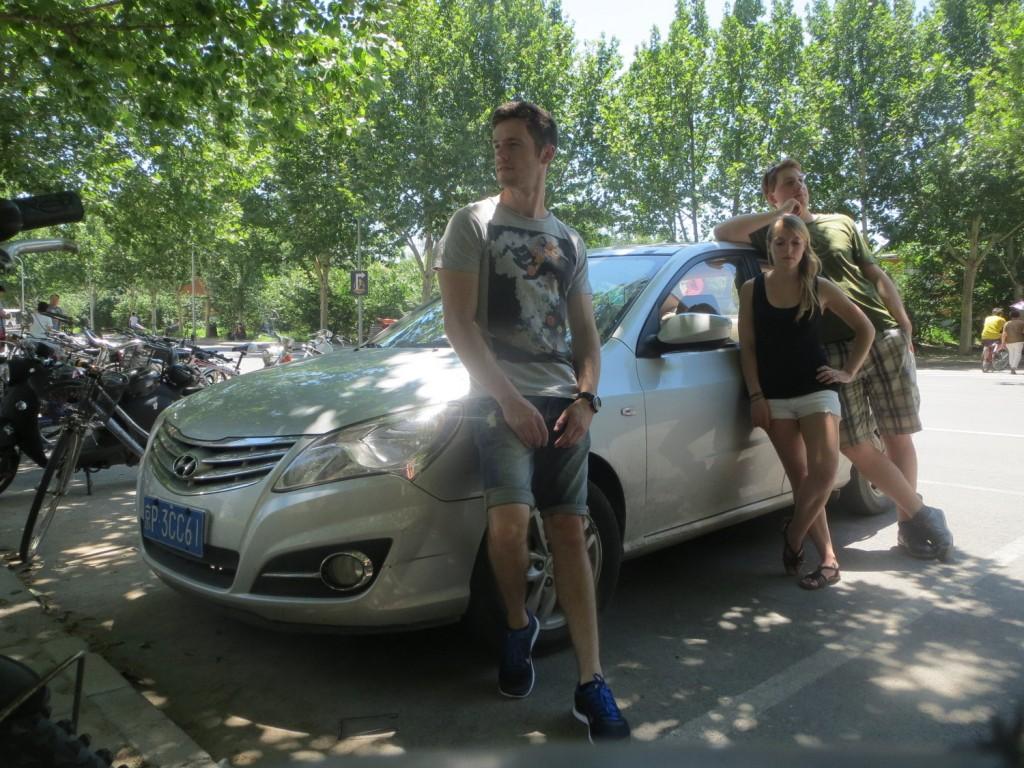 Und noch ein Abschiedsfoto mit unserem Auto