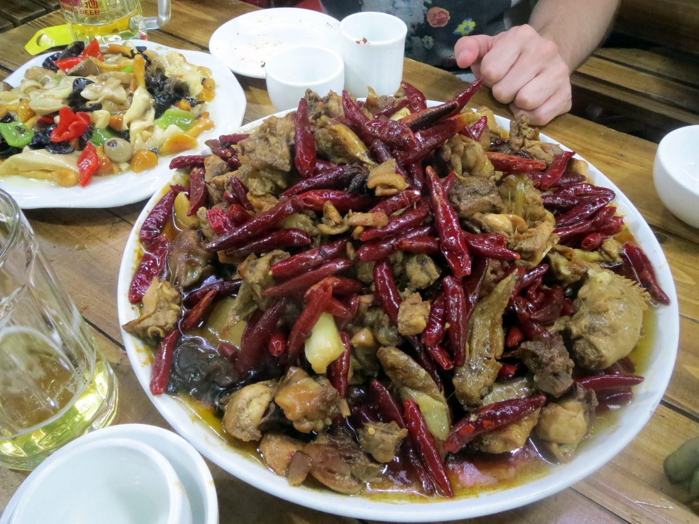 Lammfleisch und Hähnchenplatte in Hohhot