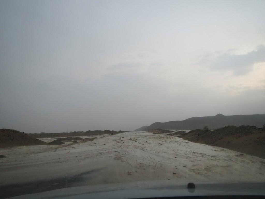 Überflutete Straßen