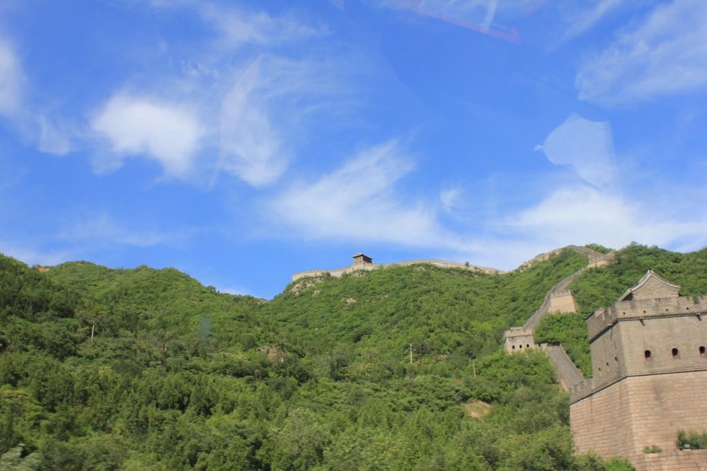 Letzte Blicke auf die Große Mauer (bei Peking)