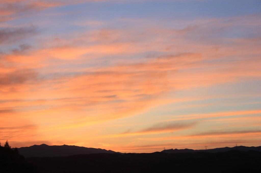 Sonnenuntergang bei Baotou