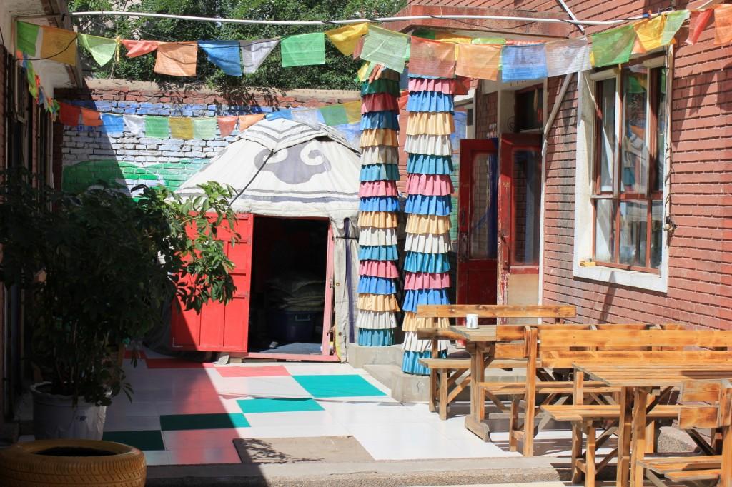 Unser Mongolen-Hostel in Hohot